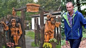 Z dřevorubce řezbářem: Luděk sochy pro soukromníky nedělá! Chce, aby byla jeho díla vidět