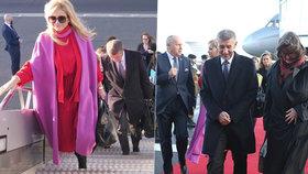 Babiš v Lucembursku navštíví českého krále. Barevná Monika ozářila letiště