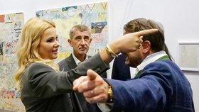 """Babišová se """"nepohodla"""" s lucemburským premiérem. Babiš přihlížel se založenýma rukama"""