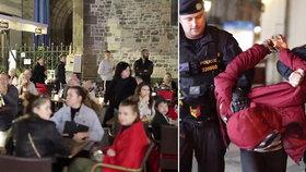 VIDEO: Potlesk na otevřené scéně! Policisty v centru ocenili přihlížející za pacifikaci dealera