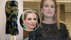 Menzelová prodala sukni od Umy Thurmanové: Neuvěříte, kolik z toho káplo!