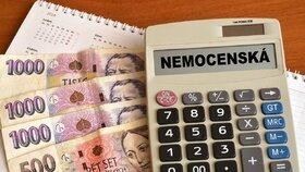 Nemocenská – víte, jaká je náhrada za mzdu v době vaší nemoci?