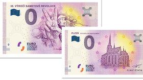 Sběratelské eurobankovky k sametové revoluci: Koupíte je v neděli a jen v Plzni
