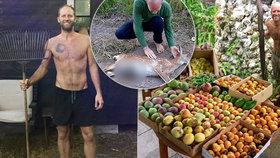 Rob za rok neutratil ani korunu za jídlo: Sbírá mrtvou zvěř u dálnice a pěstuje vlastní zeleninu