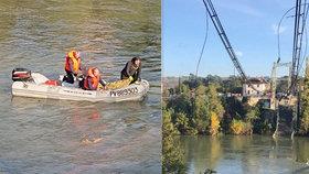 Na jihu Francie se zřítil visutý most: Zemřela patnáctiletá dívka!