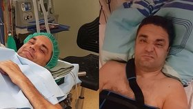 Ochrnutý Muž roku Martin Zach na operaci: Poslal foto přímo ze sálu
