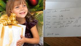 Dopis Ježíškovi, který láme srdce: Přání holčičky (7) všem vyrazilo dech!