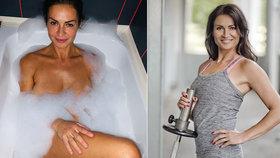 Cvičitelka Hanka Kynychová (51) odtajnila nahé tělo! Halí ji jen bublinky