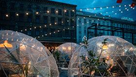 Trhy Manifesto jako eko-zimní království: Lákají na vyhřívaná iglú a francouzské speciality
