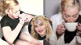 Přípravy Madonny (61) před turné: Koupání v ledu a pití moči ze šálku?!
