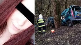 Před pár dny slavila narozeniny, teď je mrtvá: Barbora (†20) narazila s autem do stromu