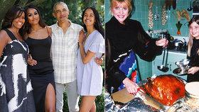 Ivanka Trump vytáhla foto s matkou, Obamovi své dcery. Díkůvzdání v USA však zasáhl i sníh