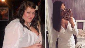 Obézní Britka zhubla kvůli svatbě. Nepoznali ji ani někteří příbuzní