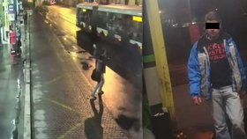 """Je to zm*d!"" křičel holomek na řidiče autobusu v Praze. Lahví rozbil sklo, policie už ho chytla"