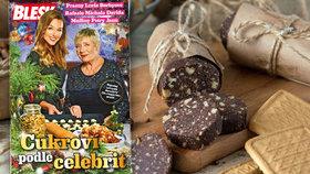 Nová kuchařka Cukroví podle celebrit zdarma! Vyzkoušejte vánoční salámek Jarky Obermaierové