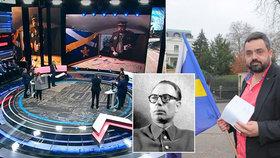"""Video, ze kterého vstávaly Rusům vlasy na hlavě: Novotný tasil v televizi """"alkoholiky"""" i Katyň"""