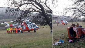 Tragédie u Nepomuku: Auto s dětmi vylétlo ze silnice! Řidič zemřel