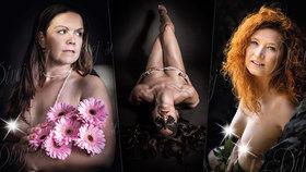 Dvanáct nahých žen vzkazuje: Dívej se! Odvážné akty nafotily pro dobrou věc