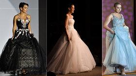 Unikátní módní přehlídka: Svatební šaty předvedly ženy s rakovinou! Maminka Dana bojuje už podruhé