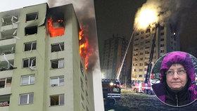 Sousedka asi shořela! Křičela, nemohla jsem se k ní dostat, byt byl v plamenech, popsala výbuch záchranářka Silva