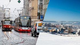 O víkendu vítr, déšť se sněhem a teploty až 10 °C. Sledujte radar Blesku