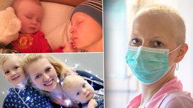 Mirka (42) bojuje s rakovinou prsu: Sama se stará o dvě děti, partnera opustila