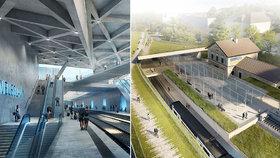 Nové nádraží na Veleslavíně: Takhle bude vypadat! Z vlaku tu přestoupíte rovnou na metro
