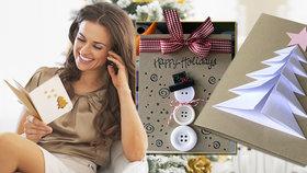 Vánoční pozdrav z papíru: 4 originální přání, která vyrobíte raz dva