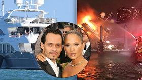Drsné záběry: Exmanželovi Jennifer Lopezové shořela jachta za 160 milionů!