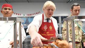 """Johnson navlékl zástěru a vojákům podával oběd. """"Tvrdí hoši"""" jen zářili"""