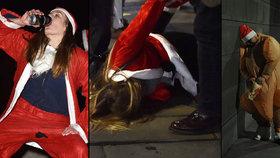 Ježíšku, panáčka! Vánoční alkoholové opojení skončilo mnoha veřejnými držkopády
