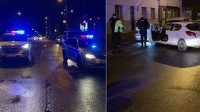 Policejní honička v Praze: Zfetovaný muž v kradeném voze ujížděl, naboural šest aut, zastavila ho střelba