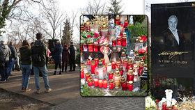 Ani na Štědrý den nezapomněli! Kdo přišel k hrobu Karla Gotta na Vánoce?