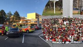 Pietu před nemocnicí v Ostravě zruší: Oběti střelby připomene trvalé pietní místo