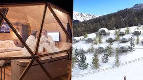 Netradiční lyžařský resort ve Francii: Na sjezdovce vyrostly alpské kokony!