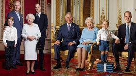 Nové foto nástupců trůnu baví: George vytasil kalhoty, královna šibalský úsměv