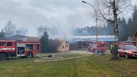 Reakreační středisko v Brdech lehlo popelem: Škoda přesáhne 10 milionů!