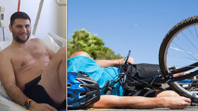Cyklista hledá svého strážného anděla: Tátovi od rodiny pomohl po nehodě