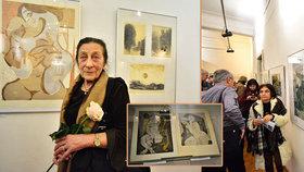 Pražští grafici slaví svá jubilea společnou výstavou: Bez umění bych nežila, říká výtvarnice Antonová (90)