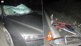 Cyklistu srazil na Přerovsku řidič osobáku, na místě zemřel