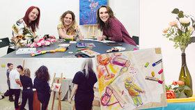 """Kreslení jako terapie: """"O touhu tvořit lidé často přicházejí ve škole,"""" říkají lektorky ze Žižkova"""