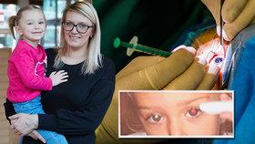 Elenčinu (3) rakovinu odhalila »zkažená fotka«! Nádor oka ukáže i aplikace v mobilu