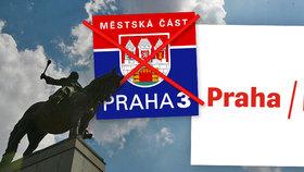 """""""Tři čárky za půl mega?"""" Lidi baví nové logo Prahy 3, připomíná prý lístek z hospody i """"lajny"""" kokainu"""
