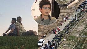 """Ryanovi (13) zemřel táta při katastrofě v Íránu. """"Nemůžu uvěřit, že je pryč,"""" smutní"""