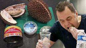 Extrémní menu, extrémní puch: Maxijedlík slupl v Brně tři nejsmradlavější jídla planety