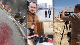 """Jak se točí válka: """"Člověk se nesmí dívat dlouho,"""" říká kameraman Honza (35). Zachytil vážně zraněné děti i umírající demonstranty"""