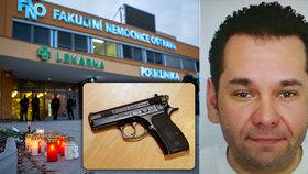 Vitásek v nemocnici střílel výukovou zbraní: Zasekávání pistole uchránilo další lidi před smrtí