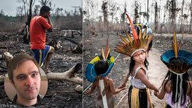 """David Těšínský fotil následky požárů v Amazonii: Ve vypálené džungli objevil Češku! Prožil i """"malou smrt"""""""