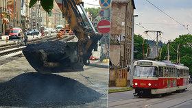 Nádražní v Praze 5 získá nový kabát. V březnu začne největší oprava tramvajové tratě