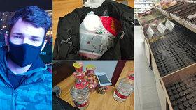 Daniela (21) uvěznil virus v Číně. Promluvil o strachu, panice i prázdných obchodech
